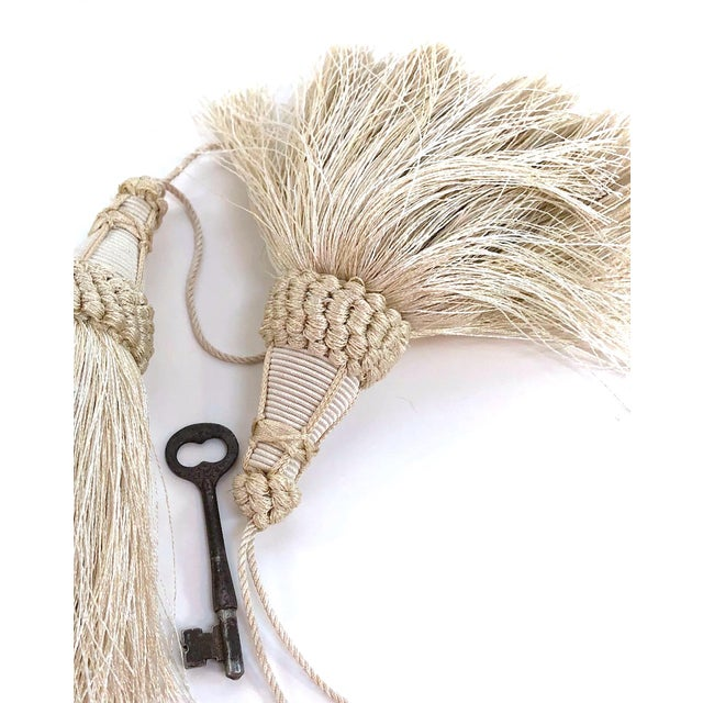 Key Tassel in Cream With Looped Ruche Trim For Sale - Image 9 of 11