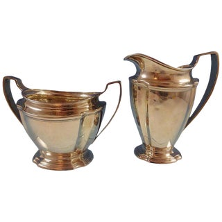 Windham by Tiffany and Co. Sterling Silver Sugar and Creamer Set of 2-Pieces #1283 For Sale