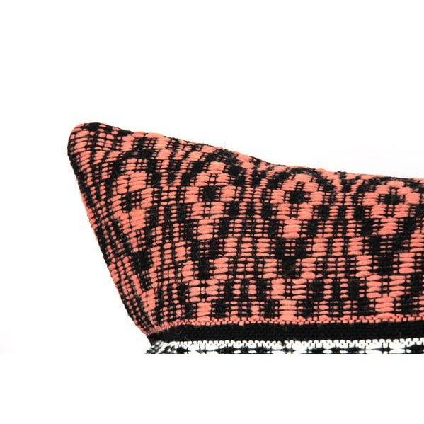 Bohemian Tribal Woven Large Lumbar Pillow For Sale - Image 4 of 7