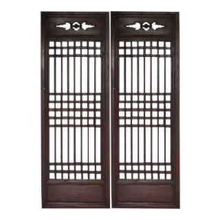 Chinese Antique Window Screens - A Pair For Sale