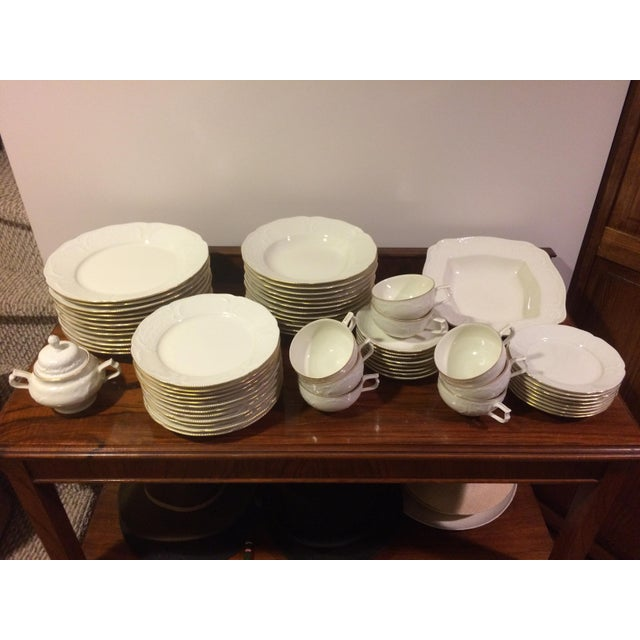 Absolutely pristine condition, rarely if ever used Rosenthal China Sans Souci with gold service for 8 or 12. There are...