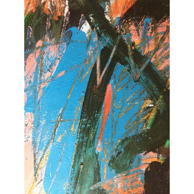 1970s Berkeley Artist Vannie Keightly Mixed Media Abstract Painting - Image 5 of 8
