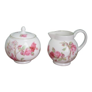 Aynsley Elizabeth Rose Cream & Sugar Set - A Pair