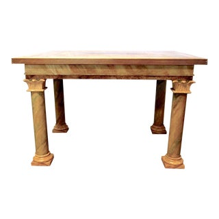 1980s Vintage John Saladino Neoclassical Library Table For Sale