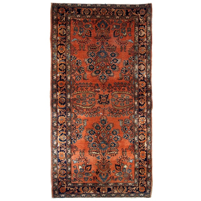 1920s Handmade Antique Persian Sarouk Rug 2.1' X 3.10' For Sale - Image 9 of 9
