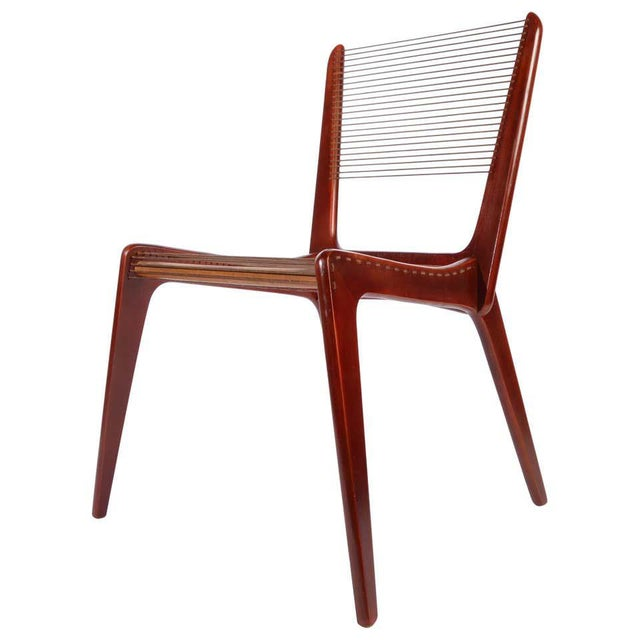 Brown Jacques Guillon Cord Chair For Sale - Image 8 of 8