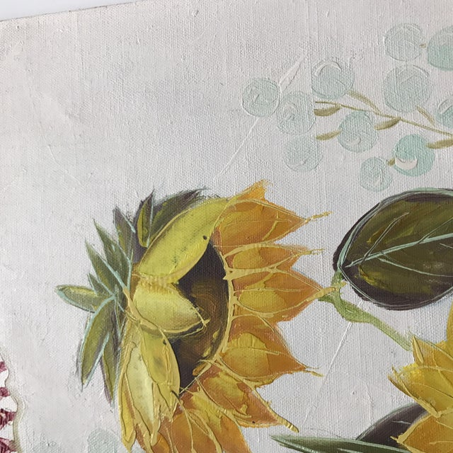Vintage Original Floral Painting For Sale - Image 5 of 10