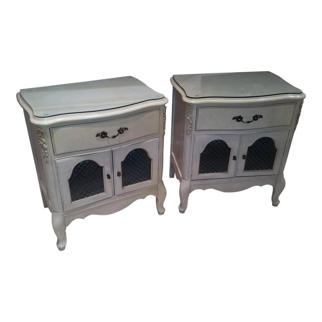 French Provincial Nightstands - Final Markdown Before Donation to Charity For Sale