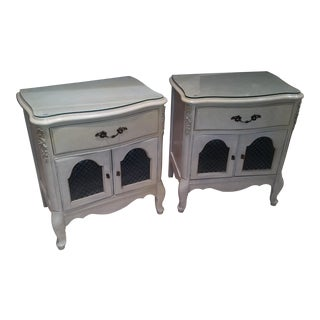 Vintage Mid-Century French Provincial Nightstands- A Pair For Sale