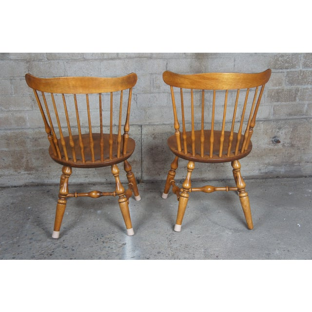 Vintage Nicholes & Stone Dining Chairs-a Pair For Sale - Image 4 of 11