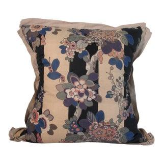 Art Deco Floral Print Pillow - 22ʺW × 22ʺH For Sale