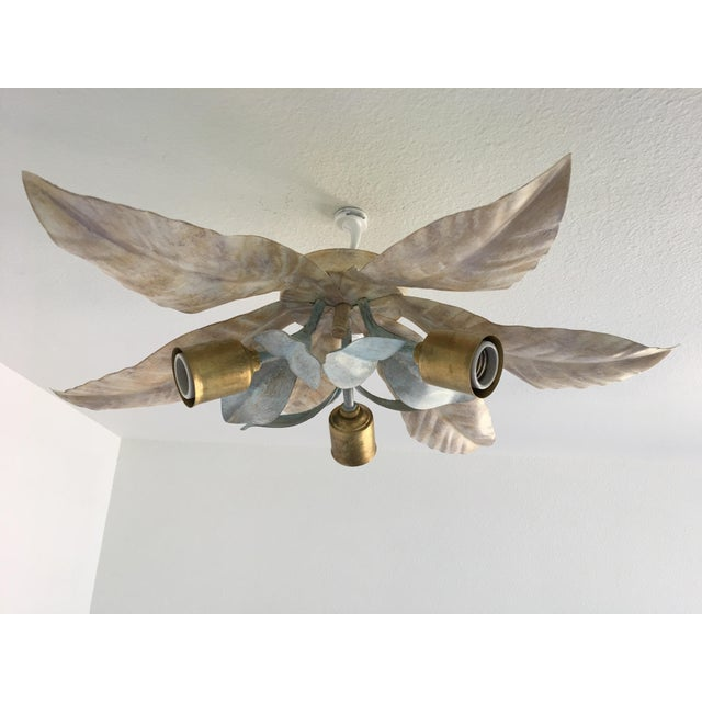 Mid-Century Italian Palm Ceiling Light - Image 9 of 9