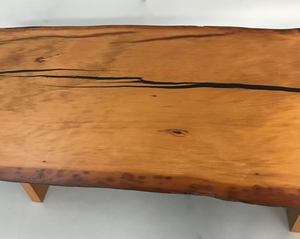 Kauri Wood Solid Slab Table   Image 4 Of 5