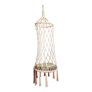 Vintage Boho Chic Macrame Hanging Chair