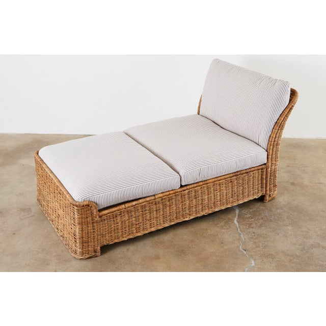 Contemporary Organic Modern Style Wicker Daybed or Chaise Lounge For Sale - Image 3 of 13