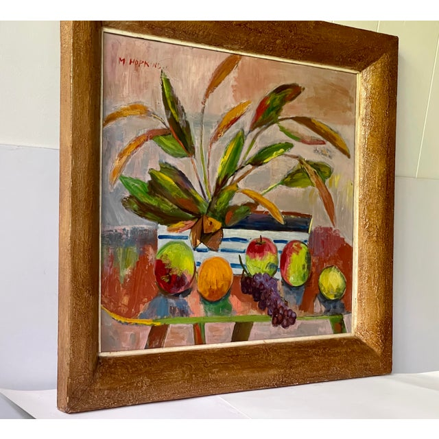 Mid-Century Modern Midcentury Botanical Still Life Painting For Sale - Image 3 of 12