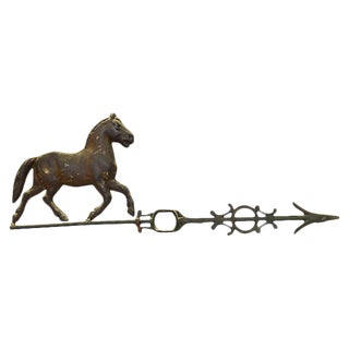 19th Century Antique Horse Weathervane Top For Sale
