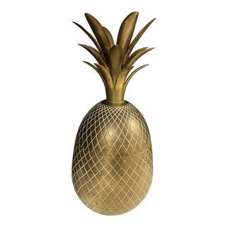 Extra Large Brass Pineapple Bucket For Sale