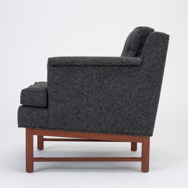 Mahogany Pair of Petite Lounge Chairs by Edward Wormley for Dunbar For Sale - Image 7 of 13