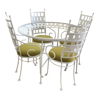 1960s Vintage Arthur Umanoff Patio Set- 5 Pieces For Sale