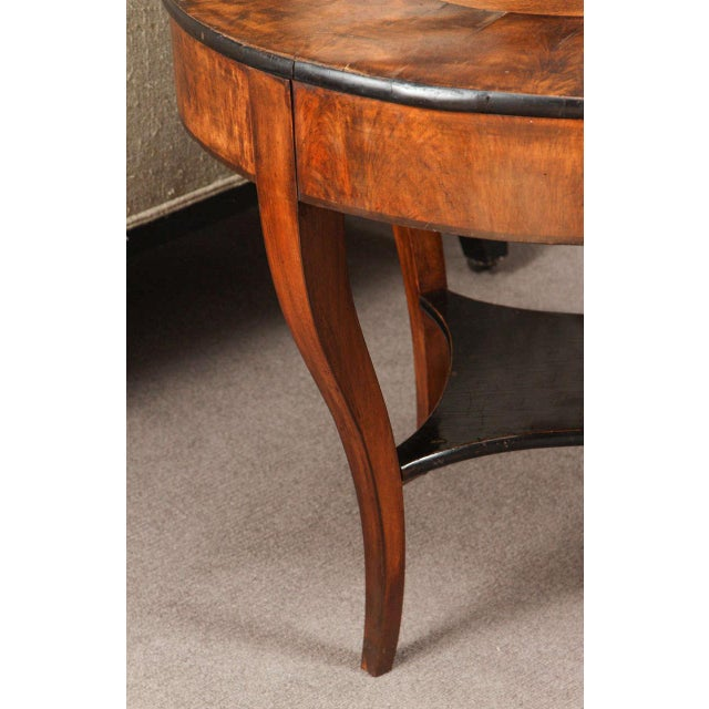 Early 20th Century Georgian Burl Wood Tray Top Coffee Table For Sale - Image 4 of 9