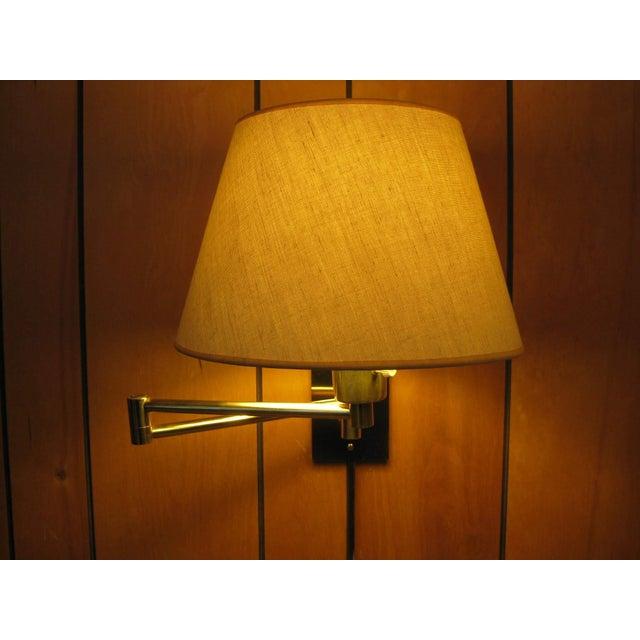 Metalarte Hansen Lamp Metalarte Double Swing Arm Brass Sconces - a Pair For Sale - Image 4 of 13