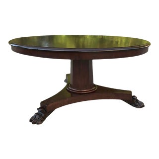 Antique French 19th Century Louis Philippe Mahogany Round Coffee Table For Sale