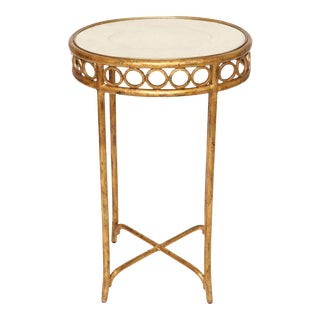 Hollywood Regency Style Side Table With Shagreen Top For Sale