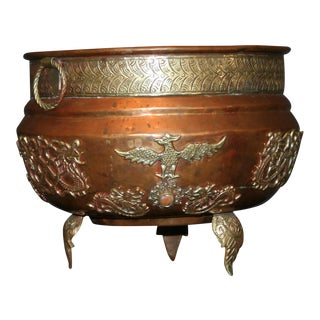 19th Century Antique Tibetan Copper and Brass Censer Pot
