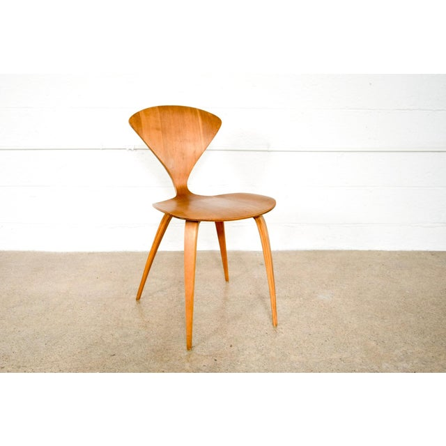 Mid Century Norman Cherner Molded Plywood Side Chair For Sale - Image 11 of 11