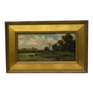 Antique Dutch Oil Painting For Sale