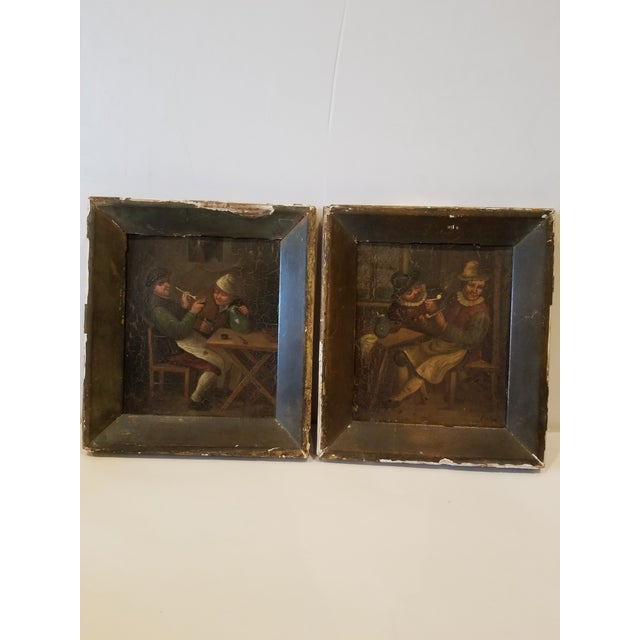Copper Pair of Dutch Paintings For Sale - Image 8 of 8