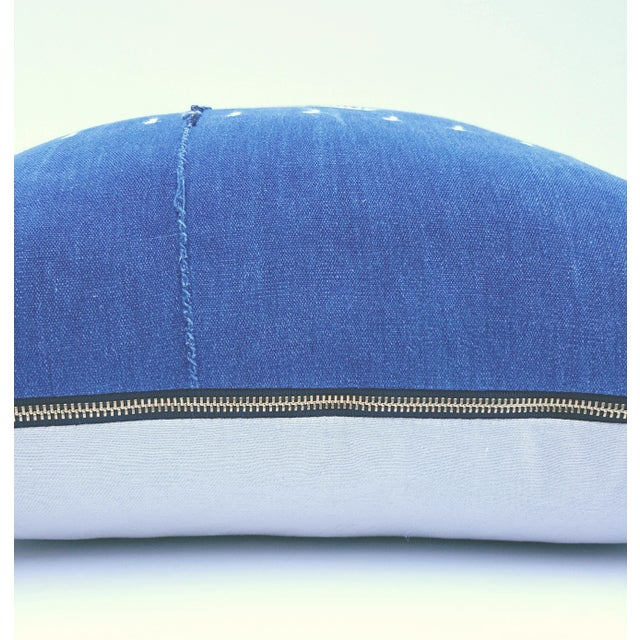 Indigo Blue African Mud Cloth Pillow - Image 4 of 4