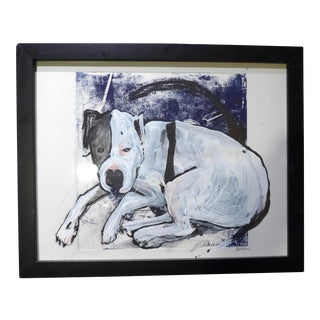"""Contemporary Drawing by Martha Holden, """"Puppy"""" For Sale"""