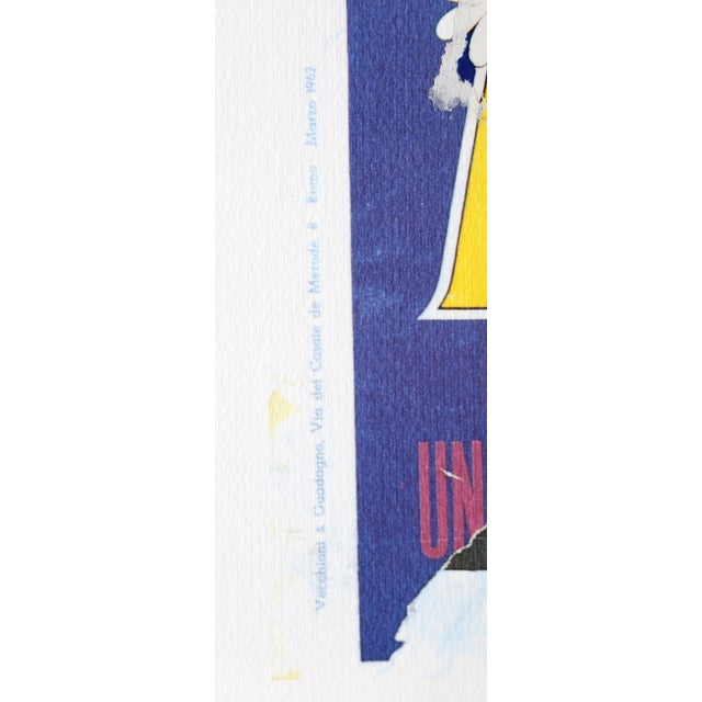 Artist: Mimmo Rotella, Italian (1918 - 2006) Title: Blue Hawaii Year: 2004 Medium: Serigraph with collage, signed in...