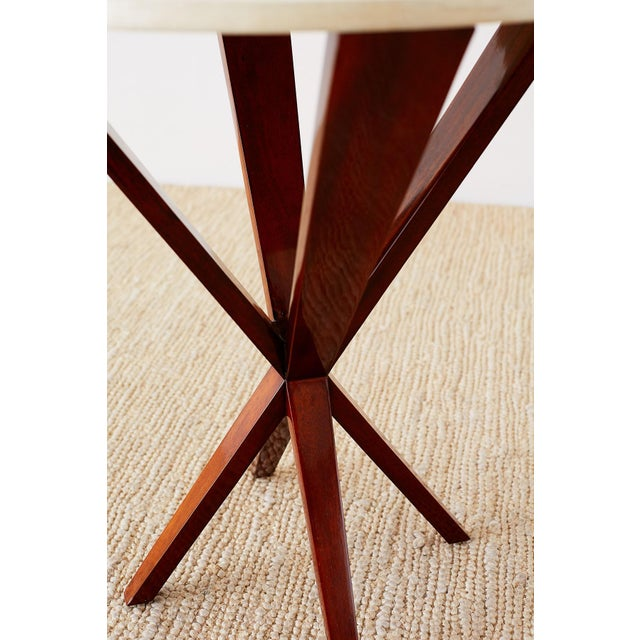 Art Deco Style Mahogany and Goatskin Vellum Drinks Table For Sale - Image 12 of 13