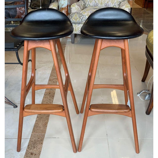 Eric Buch Danish Modern Stools - A Pair For Sale - Image 13 of 13
