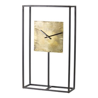 Iron and Copper Clock from Kenneth Ludwig Home For Sale