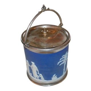 19th Century Wedgwood Jasperware Silver-Plated Ice Bucket For Sale