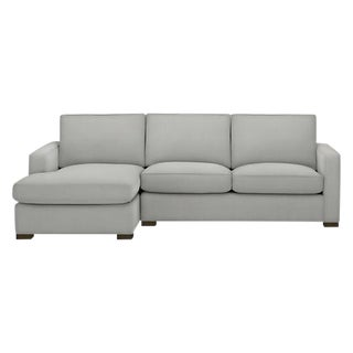 Room & Board Contemporary Light Gray Sofa with Chaise