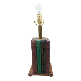 Vintage Stacked Books Table Lamp
