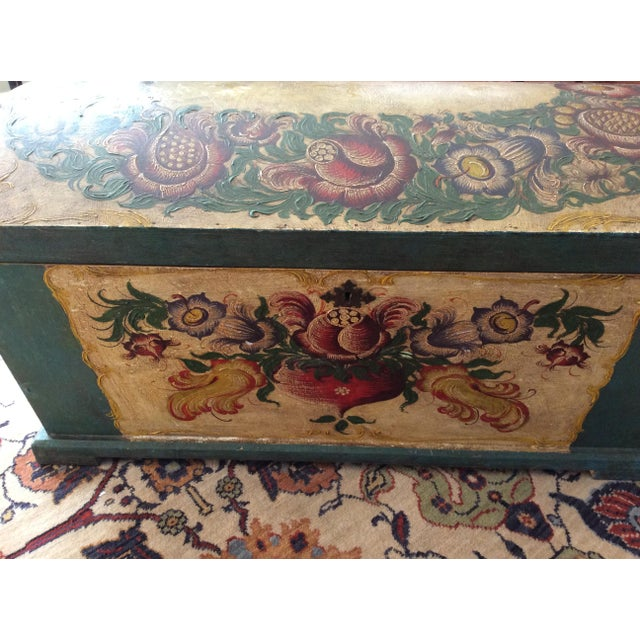 Dome-Top Hand-Painted Blanket Chest - Image 8 of 9
