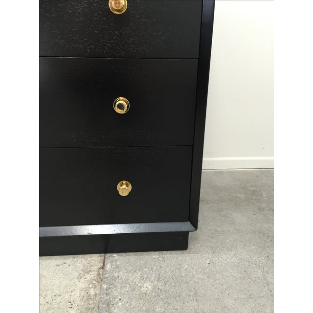 Ebonized Tall Dresser with Solid Brass Hardware For Sale - Image 4 of 10