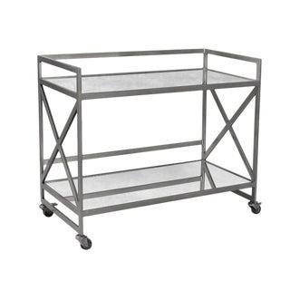 Nickel Bar Cart For Sale