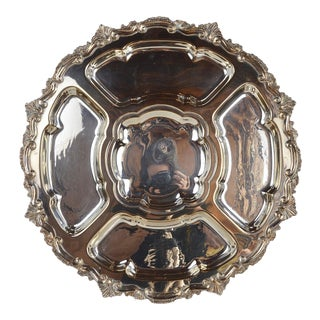 Silverplated Rococo Style Large Lazy Susan For Sale