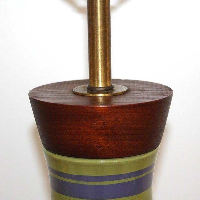 Mid-Century Modern Raymor Italian Pottery Lamp - Image 6 of 9