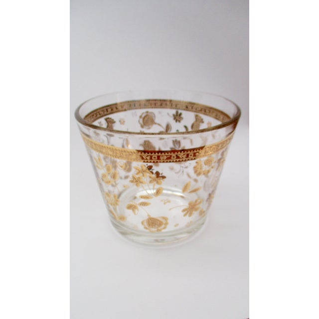 Vintage Culver Gold Ice Bucket Mid Century Modern Hollywood Regency For Sale - Image 5 of 11