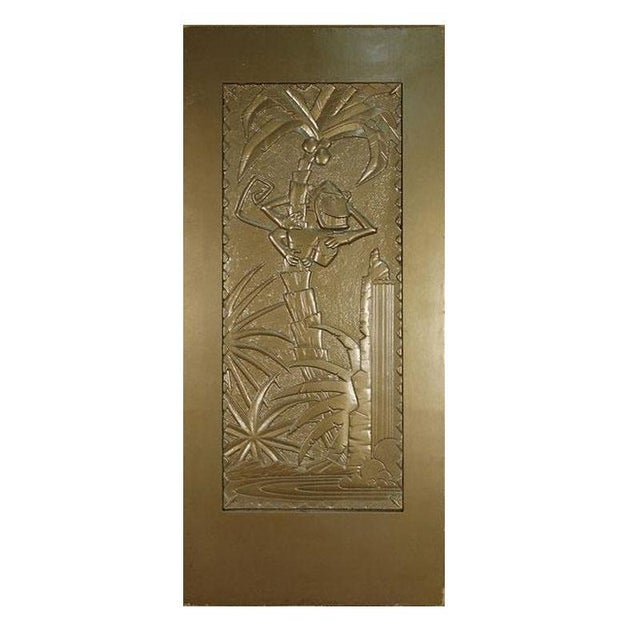 """Large Gold 7' Foot Coco Bongo Door custom made for the 1994 film """"The Mask"""" starring Jim Carrey. This large gold door is..."""
