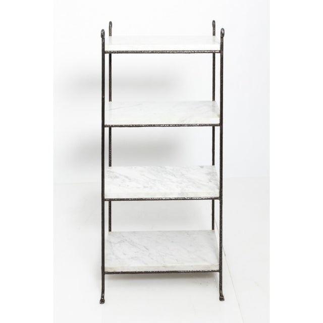 Contemporary Contemporary Iron and Marble Shelves - a Pair For Sale - Image 3 of 9