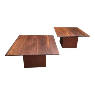 Mid-Century Modern Walnut End Tables - a Pair For Sale